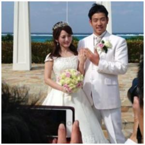 菊池雄星と深津瑠美 結婚式